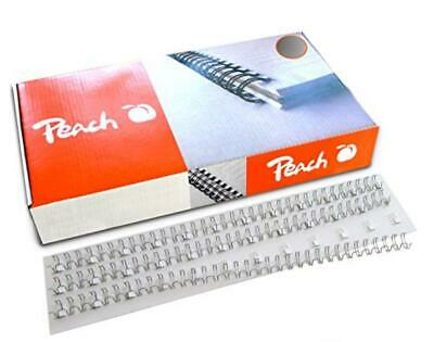 Peach Wire Binding Combs, 10mm silver, 3:1'', 34 loops A4, 100 pcs. PW095-01 - N