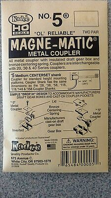 Kadee #5 HO Scale Universal Magne-Matic Metal Couplers 2-pair New in Package