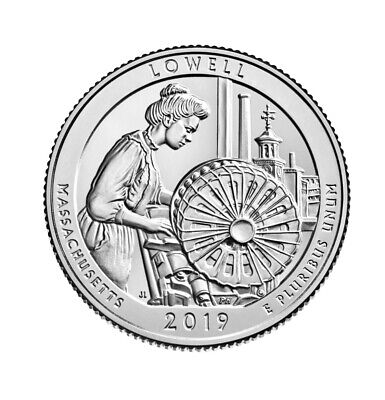 2019 S Lowell Nation Park Quarter ATB Uncirculated Clad