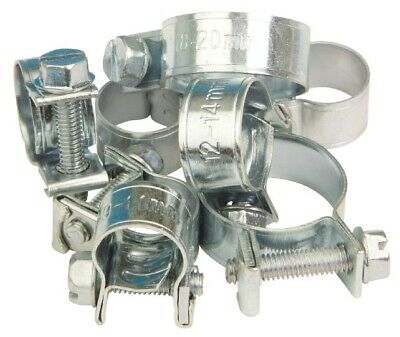 Jubilee Mini Clip Mild Steel Assortment -11 sizes 6 of each 7-9mm up to 18-20mm