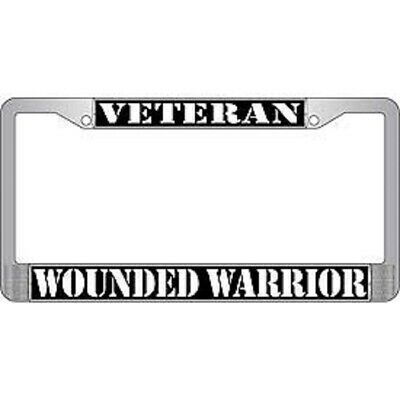 License Plate Frame-FREEDOM//THANK YOU VETERANS-Polished ABS #3345W