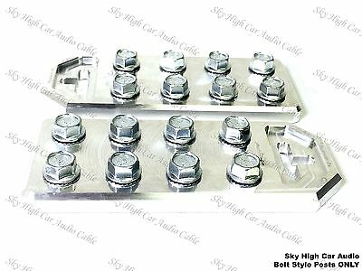 Pair of Sky High Car Audio Any GA (8) Spot Flat BATTERY TERMINALS BOLT USE ONLY