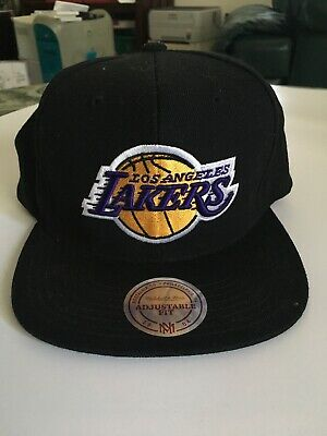 Mitchell   Ness Los Angeles Lakers Snapback Hat - NBA Basketball Classic Cap 6e3028dc1ee5