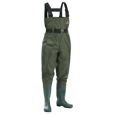 FISHINGSIR Chest Fishing Waders Hunting Bootfoot with Wading Belt Waterproof ...