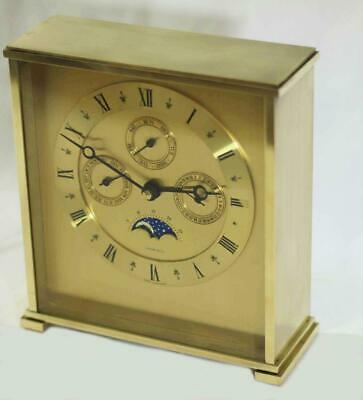 Vintage Tiffany & Co Month Time Day Date Moon Phase Mantle Desk Calender Clock