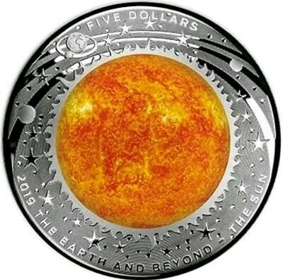 2019 1 Oz PROOF Silver $1 THE SUN - DOMED EARTH AND BEYOND Coin.
