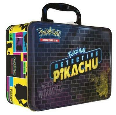 Pokemon TCG Detective Pikachu Collectors Chest Lunch Box 9 Booster Packs PRESALE
