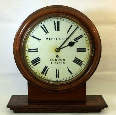Maple & Co Ltd Antique English 8 Day Fusee Bracket Or Wall Clock