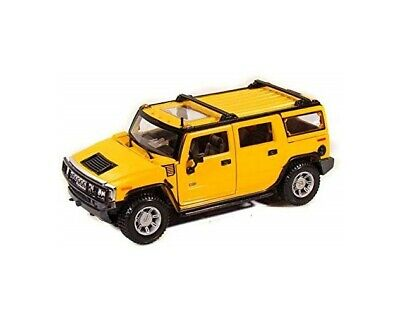 Maisto 1/27 Scale Hummer H2 SUV w/ Sunroof Diecast Model Toy Car  7 inch yellow
