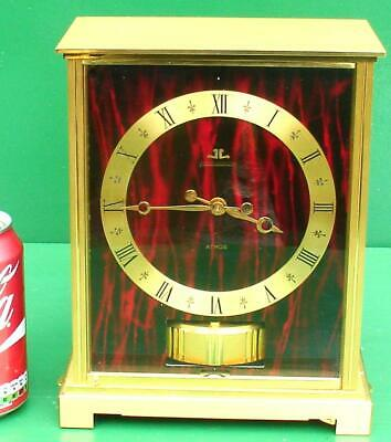 Vintage Jaeger Lecoultre Embassy Vii Red Atmos Cal 528/1 Swiss Mantle Clock