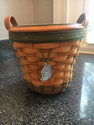 Longaberger '00 Golf Club Basket w/ Lid, liner, protector, and tie on!