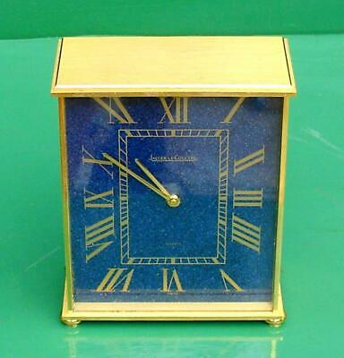 Vintage Swiss Jaeger Le'coultre Lapis Lazuli Quartz Mantle Table Boudoir Clock