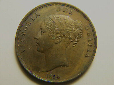 1854 Great Britain Penny 4/3