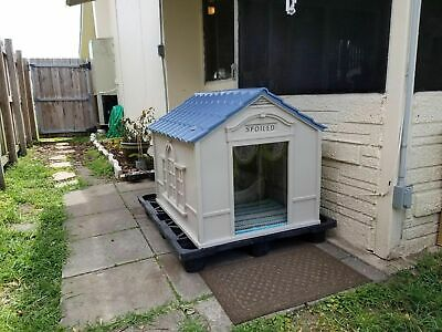 Xxl Dog Kennel For X-Large Dogs Outdoor Pet Cabin Insulated House Big Shelter