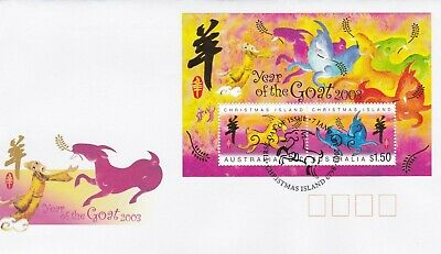CI11) Christmas Island 2003 Chinese New Year Series - Year Of The Goat M/S