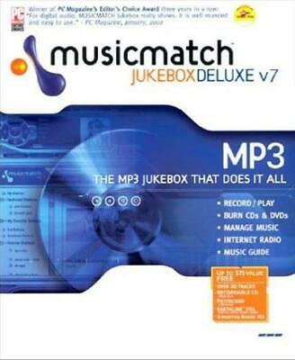 MUSICMATCH JUKEBOX 7 5 Deluxe PC CD listen sort manage computer
