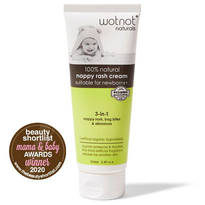 Wotnot Natural Baby Balm With Organic Pawpaw For Sensitive Skin 100 ml