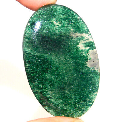60.00 Cts 100% Natural 49X30 Mm Green Aventurine Oval Loose Gemstone