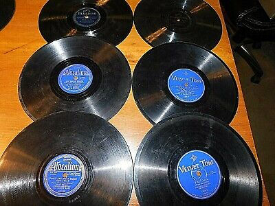 78 RPM Lot of 6 Mixed Label Records Various Artists Sammy Kaye FREE SHIPPING