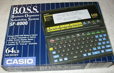 Vtg Casio BOSS SF-8000 64KB Pocket Computer Business Organizer Scheduling System