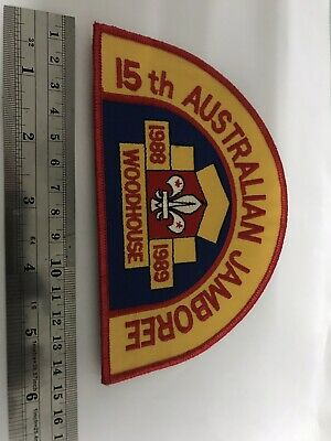 scout AJ 1989 Woodhouse Jamboree OFFICIAL Back Patch badge patch