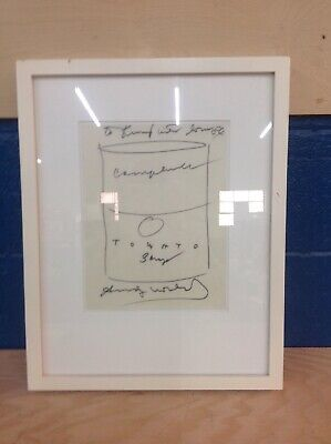 Signed Andy Warhol Drawing