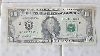 1981 100 Dollar Federal Reserve Note New York New York