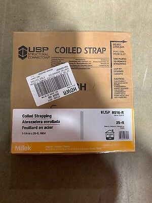 USP Roll of Galvanized Coiled Strapping RS16-R  1-1/4in x 25ft  16GA