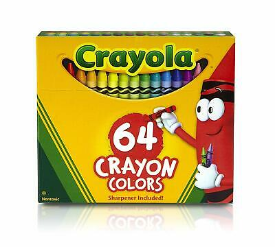 Crayola Crayon Box with Sharpener 64 Colours Gift Colouring Drawing Non Toxic