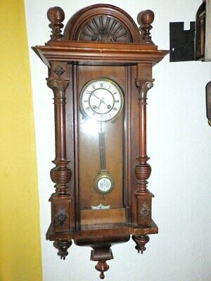 Old Wall Clock  1880 - 1900 For A Restauration Movement In Funktion