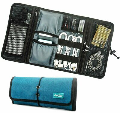 ProCase Travel Gear Organiser Electronics Accessories Bag Small Carry Case Teal