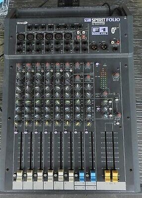Soundcraft Spirit Folio F1 Fader 100 Mixer - Used Condition - Working Well