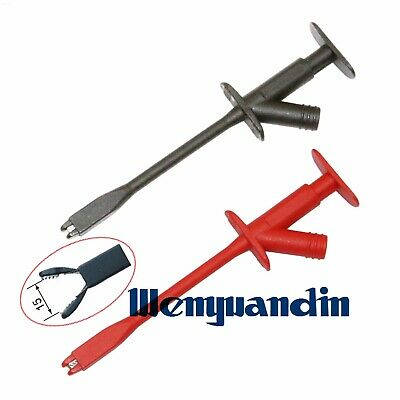 Insulated Rigid Shaft Alligator Clamp Test Probe With 4mm Socket Clip TL22390