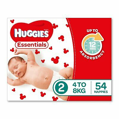 Huggies Essentials Nappies Size 2 Infant (4-8kg) 54 Count