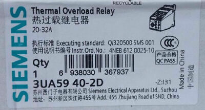 1pc  Fst  Siemens   3UA5940-2D  20-32A  Thermal  relay  free shipping