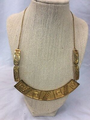 Beautiful Vtg Mexico Modernist sterling Silver 925 vermeil necklace
