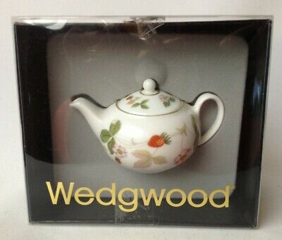 Wedgwood Wild Strawberry Teapot Miniature Boxed