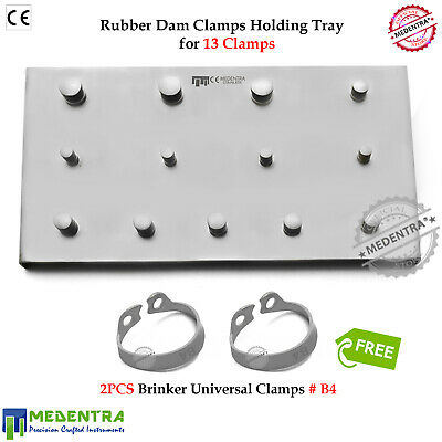Rubber Dam Clamp Holding Tray Brinker B4 for Upper Molar Jaw Incisors/Canines CE
