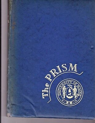 """1945 """"Prism"""" with NAMES! - University of Maine Yearbook - Tribute to Servicemen"""