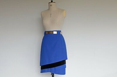 Vintage 80's Escada Couture Blue Skirt | size s | made in germany