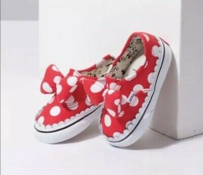 31e0807dad1 Vans x Disney Authentic Gore Minnie Mouse Bow DEADSTOCK KIDS SIZE 10.5 New!