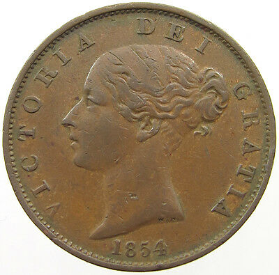 Great Britain 1/2 Penny 1854   #t5 133