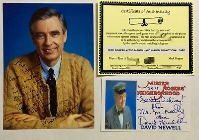 Mister Fred Rogers Autographed 5 x 7 Photo Mr. Rogers Neighborhood PBS Official