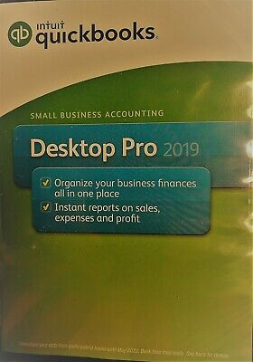 Intuit Quickbooks Desktop Pro 2019 PC Disc 1 User with 90 Days Free Support