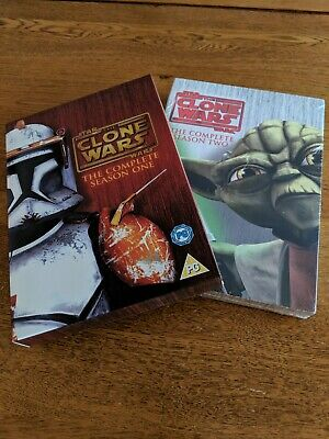 Star Wars The Clone Wars The Complete Seasons One And Two DVD Boxset