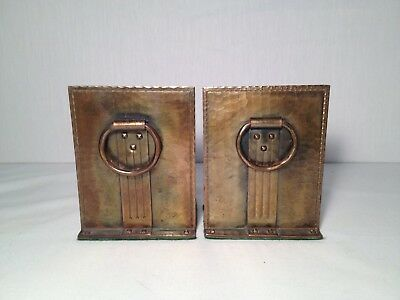 Nice Pair Roycroft Hand Hammered Bookends