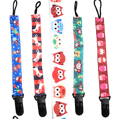 3x Dummies & Soothers clip Holder for baby boy/girl Toy safe strap By Spirius