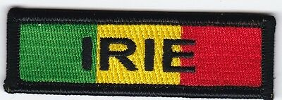 """3 Pcs RASTA USA New York Brooklyn Embroidered Patches 4.75/""""x1.75/"""" iron-on"""