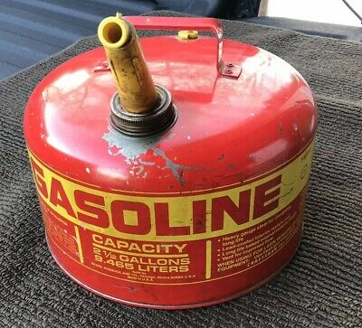 Vintage '70s Sears Roebuck and Co. CRAFTSMAN 2.5 Gal. Gasoline Vtg GAS CAN