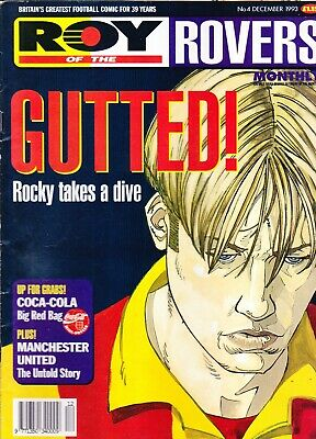 ROY OF THE ROVERS MONTHLY No.04 December 1993 GUTTED Rocky Takes A Dive